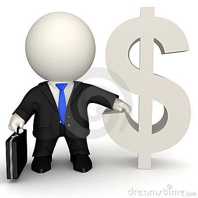Dollar Man 3d-man-with-dollar-sign